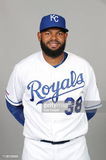 Jorge Bonifacio of the Kansas City Royals poses during Photo Day on Thursday February 21 2019 at Surprise Stadium in Surprise Arizona