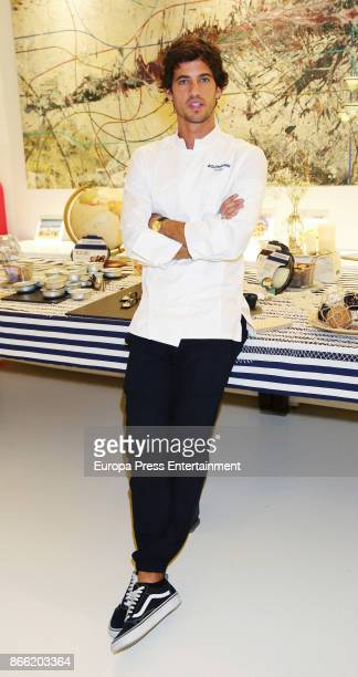 Jorge Brazalez attends Aguinamar showcooking at Kitchen Club on October 24 2017 in Madrid Spain