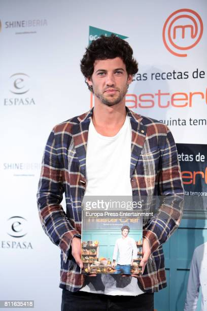 Jorge Brazalez the winner of TV MasterChef presents his book 'Las recetas de Jorge' on July 7 2017 in Madrid Spain