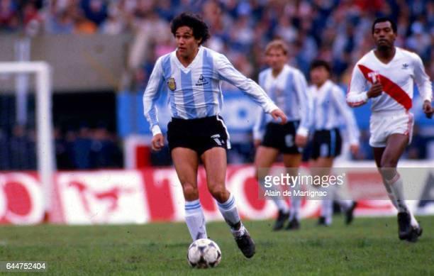 Jorge BURRUCHAGA Argentine / Perou Eliminatoires Coupe du Monde 1986 Photo Alain de Martignac / Icon Sport
