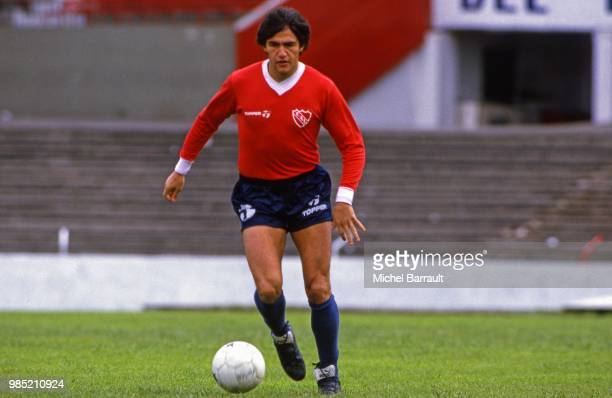 Jorge Burruchaga during a photo session at Avellaneda Argentina on September 4th 1985