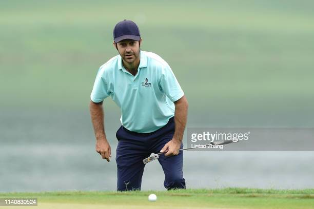 Jorge Campillo of Spain looks on before plays a shot during day two of the 2019 Volvo China Open at Genzon Golf Club on May 3 2019 in Chengdu China
