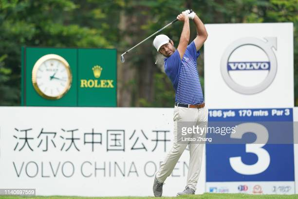 Jorge Campillo of Spain plays a shot during the day one of the 2019 Volvo China Open at Genzon Golf Club on May 2 2019 in Shenzhen China