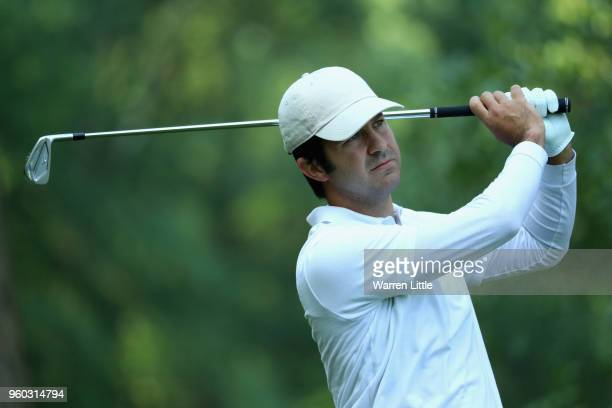 Jorge Campillo of Spain plays his shot off the 2nd tee during his Quater Final match against Adrian Otaegui of Spain during the final day of the...