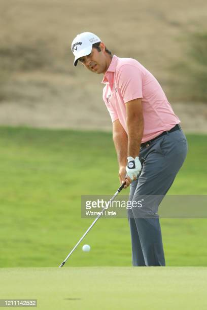 Jorge Campillo of Spain reacts as he chips onto the 16th green during Day 4 of the Commercial Bank Qatar Masters at Education City Golf Club on March...