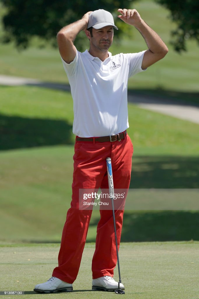 Jorge Campillo of Spain reacts on the 18th hole during day three of the 2018 Maybank Championship Malaysia at Saujana Golf and Country Club on February 3, 2018 in Kuala Lumpur, Malaysia.