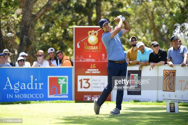 Jorge Campillo of Spain tees off on the 13th hole during Day Four of the Trophee Hassan II at Royal Golf Dar EsSalam on April 28 2019 in Rabat Morocco