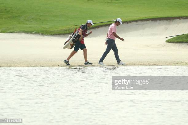 Jorge Campillo of Spain walks on 13th fairway during Day 4 of the Commercial Bank Qatar Masters at Education City Golf Club on March 08 2020 in Doha...