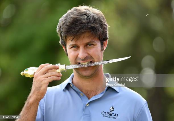 Jorge Campillo of Spain with the winners trophy after the final round of the Trophee Hassan II at Royal Golf Dar EsSalam on April 28 2019 in Rabat...