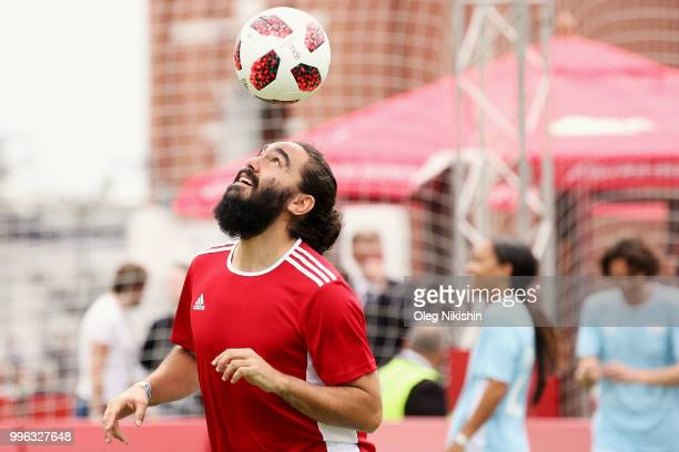 Jorge Campos in action during the Legends Football Match in 'The park of Soccer and rest' at Red Square on July 11 2018 in Moscow Russia