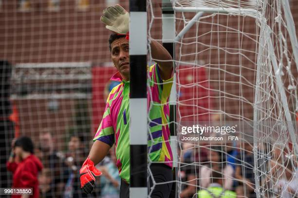 Jorge Campos looks on during the Legends Football Match in Red Square on July 11 2018 in Moscow Russia