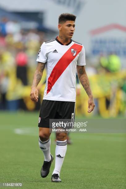Jorge Carrascal of River Plate during a friendly match between Club America and River Plate as part of the Colossus Cup 2019 at CenturyLink Field on...