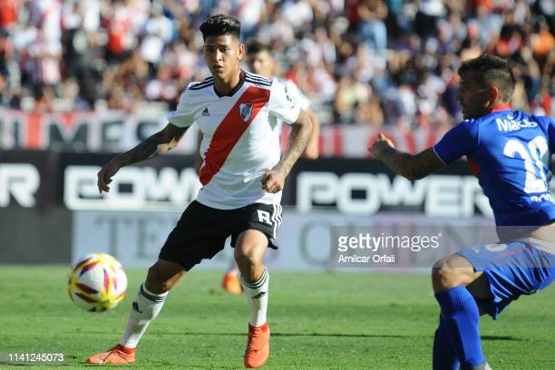Jorge Carrascal of River Plate during a match between River Plate and Tigre as part of Superliga 2018/19 at Estadio Monumental Antonio Vespucio...