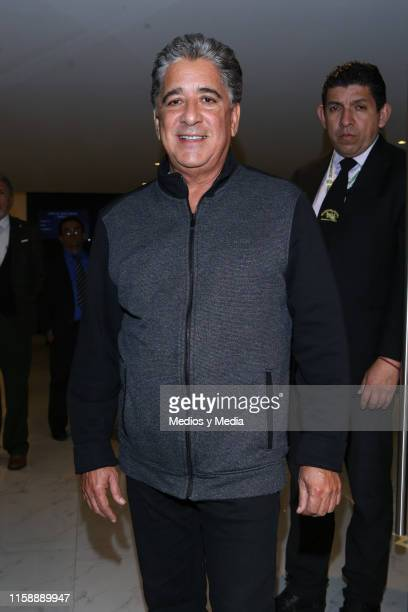 Jorge Castro poses for photos during the funeral of singer actor and television presenter Gualberto Castro on June 28 2019 in Mexico City Mexico...