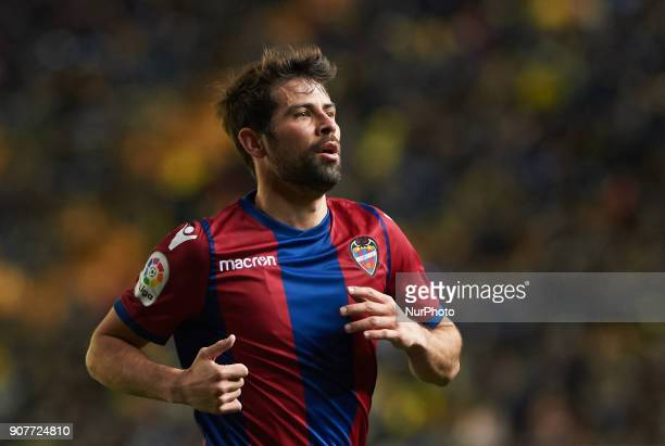 Jorge Coke Andujar of Levante Union Deportiva during the La Liga match between Villarreal CF and Levante Union Deportiva at Estadio de la Ceramica on...
