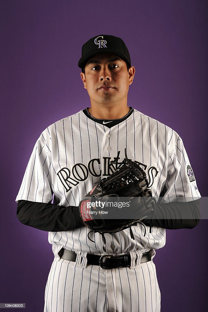 Jorge De la Rosa #29 of the Colorado Rockies poses for a portrait during photo day at the Salt River Fields at Talking Stick on February 24, 2011 in Scottsdale, Arizona.