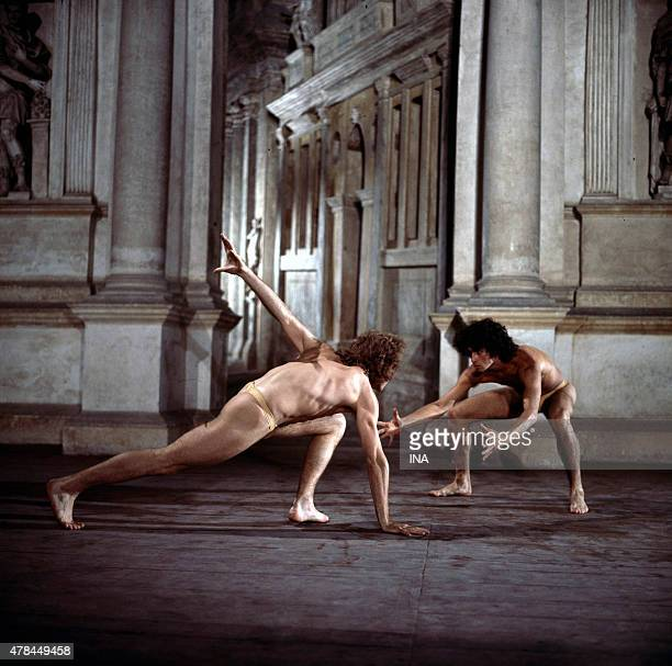 Jorge Donn and Philippe Lizon in the ballet I was born to Venise choreographed and realized by Maurice Bejart