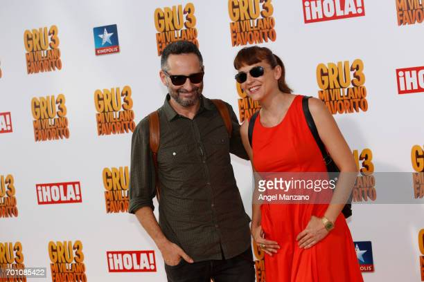 Jorge Drexler and Leonor Watling attend the 'Despicable Me 3' premiere at Kinepolis cinema on June 22 2017 in Madrid SPAIN