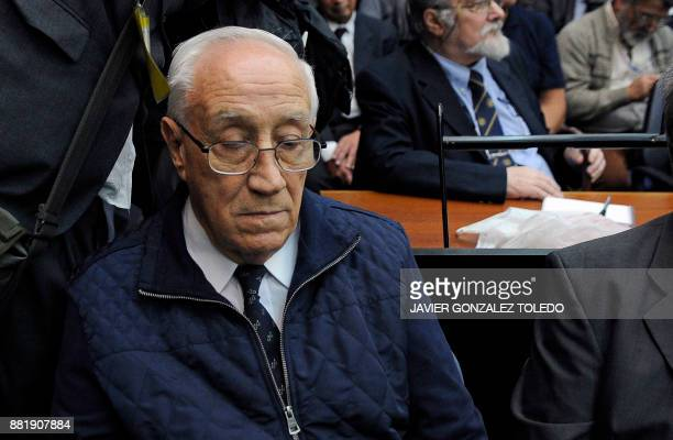 Jorge Eduardo Acosta nicknamed the Tiger during Argentina's military dictatorship and already convicted for earlier charges is pictured during his...
