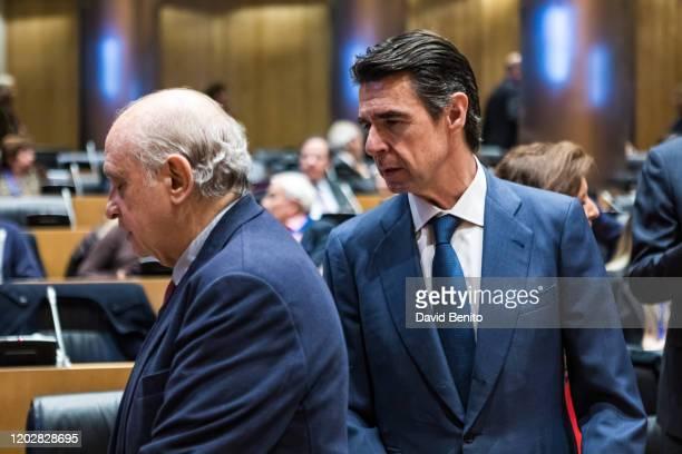 Jorge Fernandez and José Manuel Soria López attend 'Memorias heterodoxas' book presentation at Palacio de Congresos on January 29 2020 in Madrid Spain