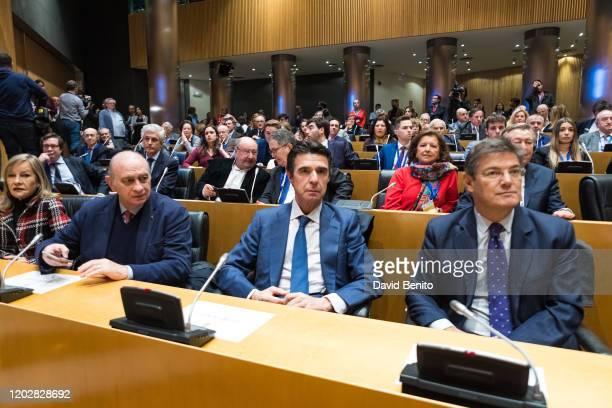 Jorge Fernandez José Manuel Soria López and Rafael Catala attend 'Memorias heterodoxas' book presentation at Palacio de Congresos on January 29 2020...