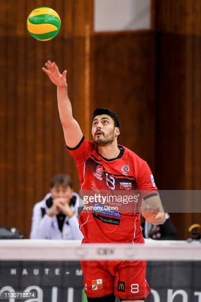 Jorge Fernandez of Chaumont during the CEV Champions League match Chaumont 52 and SIR Safety Perugia on March 14 2019 in Reims France