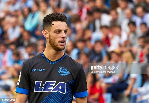 Jorge Franco 'Burgui' of Deportivo Alaves looks on during the La Liga match between Celta de Vigo and Deportivo Alaves at Balaidos Stadium on...