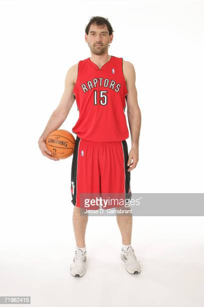 Jorge Garbajosa of the Toronto Raptors poses for a portrait on September 14 2006 at the IBM Palisades Executive Conference Center in Palisades New...