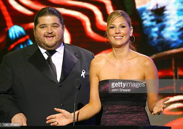 Jorge Garcia and Daisy Fuentes presenters during 2007 NCLR ALMA Awards Show at Pasadena Civic Center in Pasadena California United States