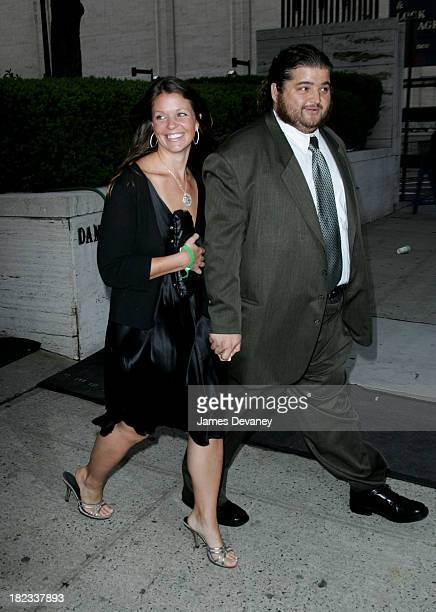 Jorge Garcia and Malia Hansen during ABC 20062007 Upfronts Departures at Lincoln Center in New York City New York United States