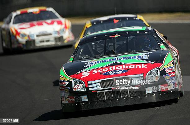 Jorge Goeters drives his ScotiaBank/gel Xtreme Ford during the NASCAR Busch Series Telcel-Motorola 200 on March 5. 2006 at Autodromo Hermanos...