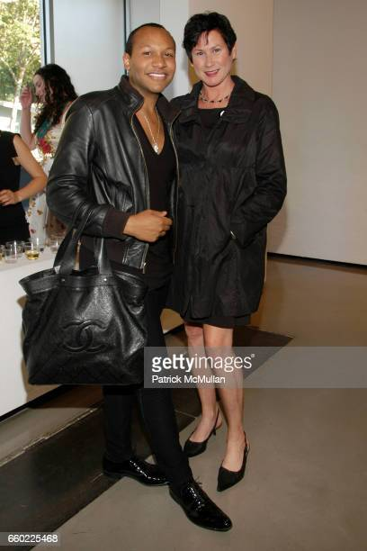Jorge Gomez and Denise Woods attend NAKED Gallery Opening at Paul Kasmin Gallery on July 9 2009 in New York