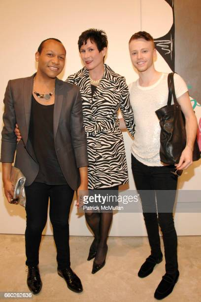Jorge Gomez Denise Woods and Craig Warfield attend OPENING RECEPTION for THE FEMALE GAZE Women Look at Women at Cheim Reid on June 25 2009 in New...
