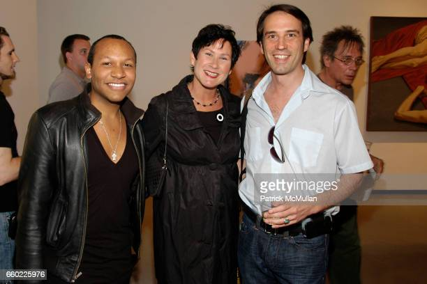 Jorge Gomez Denise Woods and Neal McDonough attend NAKED Gallery Opening at Paul Kasmin Gallery on July 9 2009 in New York