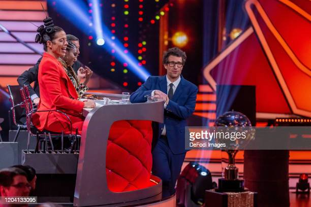 Jorge Gonzalez and Daniel Hartwich looks on during the 1st show of the 13th season of the television competition Let's Dance on February 28 2020 in...