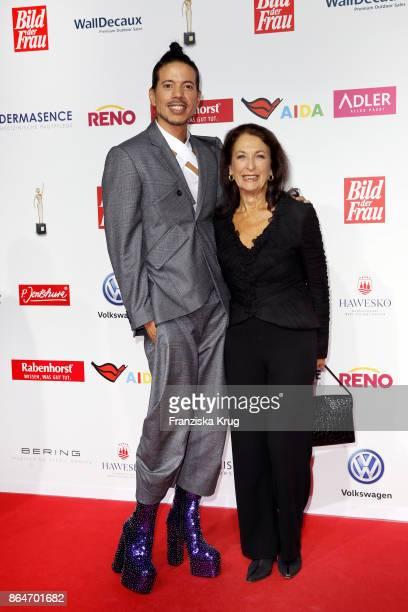 Jorge Gonzalez and Daniela Ziegler attend the 'Goldene Bild der Frau' award at Hamburg Cruise Center on October 21 2017 in Hamburg Germany