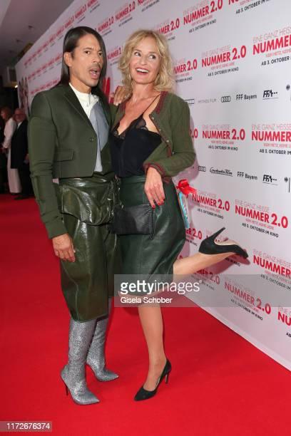 Jorge Gonzalez and Franziska Schlattner during the premiere of Eine ganz heiße Nummer 20 at Mathaeser Kino on September 30 2019 in Munich Germany