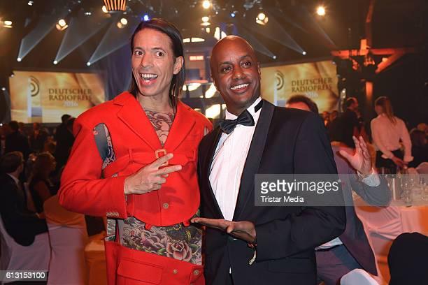 Jorge Gonzalez and Yared Dibaba attend the Deutscher Radiopreis 2016 on October 6, 2016 in Hamburg, Germany.