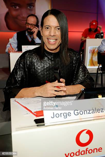 Jorge Gonzalez is seen in the studio of the RTL Telethon TV show on November 24 2016 in Cologne Germany The telethon is held every year and is on air...