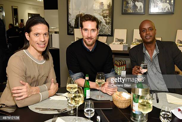 Jorge Gonzalez, Joerg Oppermann and Yared Dibaba attend GALA Christmas Shopping Night 2015 at Alsterhaus on November 19, 2015 in Hamburg, Germany.