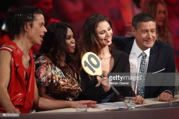 Jorge Gonzalez Motsi Mabuse Carina Zavline and Joachim Llambi during the 10th show of the 11th season of the television competition 'Let's Dance' on...