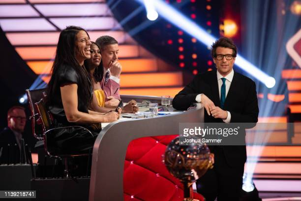 Jorge Gonzalez Motsi Mabuse Joachim Llambi and Daniel Hartwich during the 2nd show of the 12th season of the television competition Let's Dance on...