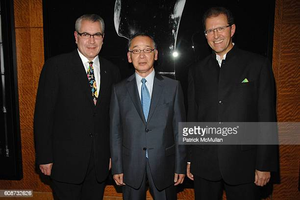 Jorge Gonzalez, Yutaka Mino and Edouard Ettedgui attend MANDARIN ORIENTAL HOTEL GROUP Party for the SOTHEBY'S Contemporary Asian Art Exhibition at...
