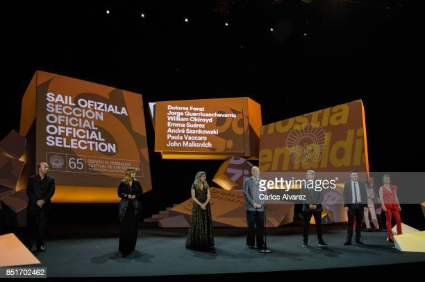 Jorge Guerricaechevarra Enma Suarez Paula Vaccaro John Malkovich Andre Szankowski William Oldroy and Dolores Fonzi attend the opening gala during...