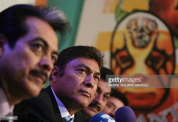 Jorge Hernandez , lead singer of Mexican band Los Tigres del Norte speaks at a press conference to promote their new album and Spanish tour, 10...