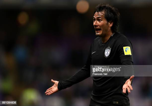 Jorge Hernandez of CF Pachuca reacts during the FIFA Club World Cup UAE 2017 semifinal match between Gremio FBPA and CF Pachuca on December 12 2017...