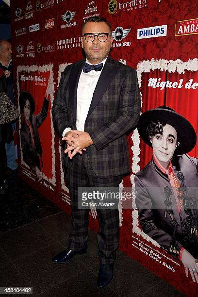 Jorge Javier Vazquez attends Miguel de Molina al Desnudo premiere at the Santa Isabel Theater on November 4 2014 in Madrid Spain