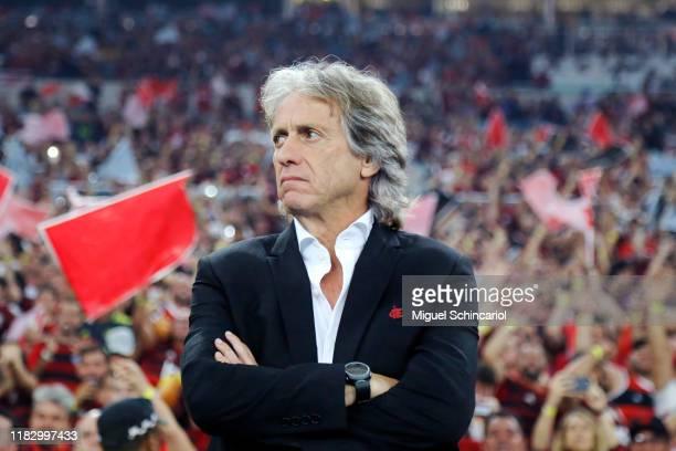 Jorge Jesus head coach of Flamengo during a second leg semi-final match between Flamengo and Gremio as part of Copa CONMEBOL Libertadores at Maracana...