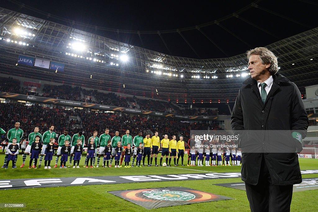 Bayer Leverkusen v Sporting Lisbon - UEFA Europa League Round of 32: Second Leg : News Photo