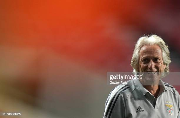 Jorge Jesus of SL Benfica in action during the Pre Season Friendly match between SL Benfica and Rennes FC at Estadio da Luz on September 5, 2020 in...